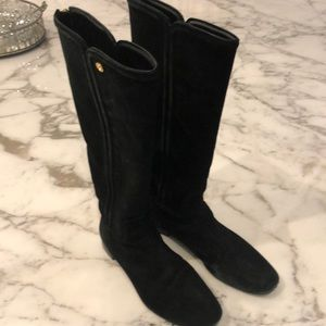 Tory Burch black suede IRENE boot. 9.5